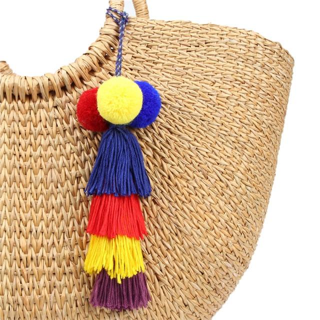 Фото брелок для ключей naomy & zp с кисточкой брелок сумкой ювелирные