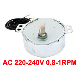 Uxcell(R) Hot Sale 1 Pcs AC 220-240V CCW/CW 4W 50/60Hz Frequency 0.8-1RPM Micro Synchronous Motor 1000 pcs 1 4w watt 0 25w 1