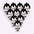 Dragon Ball Z Супер Саян Сон Гоку Вегета Плюшевые Игрушки с брелок Подвеска Мягкая Чучело Куклы 13 см 10 шт./лот