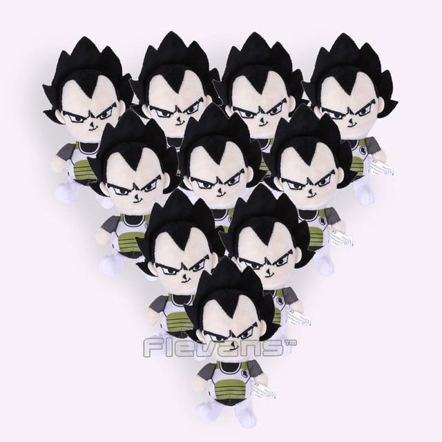 Dragon Ball Z Super Saiyan Son Goku Vegeta Plush Toys With Keychain Pendant Soft Stuffed Dolls