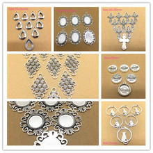10 pcs Vintage Stainless Steel Charms Pendants Mixed Styles For Jewelry DIY Making Accessories(China)