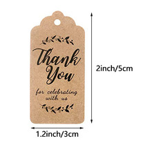 300pcs white/brown Kraft gift tags Thank You paper tags for baby shower party favors personalized wedding gifts for guests