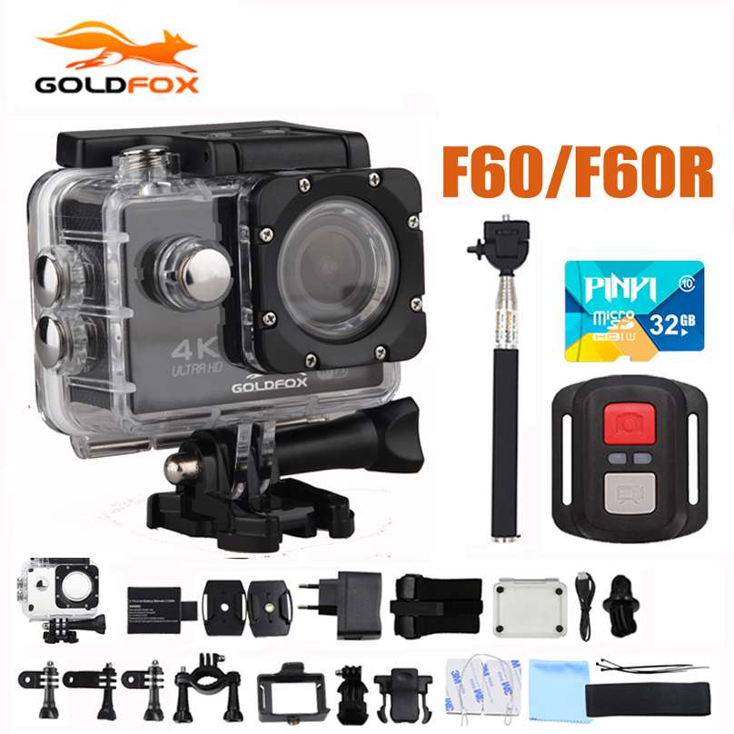 F60/F60R Goldfox Action Camera 4K/30fps 16MP WiFi 170D Bike Helmet Cam 30M Go Waterproof Pro Extreme Sports DV camera Car Cam goldfox h9 ultra hd 4k action camera 170d wifi sport camera dv 30m underwater cam go waterproof pro bike helmet car camera dvr