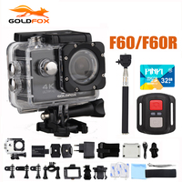 F60/F60R Goldfox Action Camera 4K/30fps 16MP WiFi 170D Bike Helmet Cam 30M Go Waterproof Pro Extreme Sports DV camera Car Cam