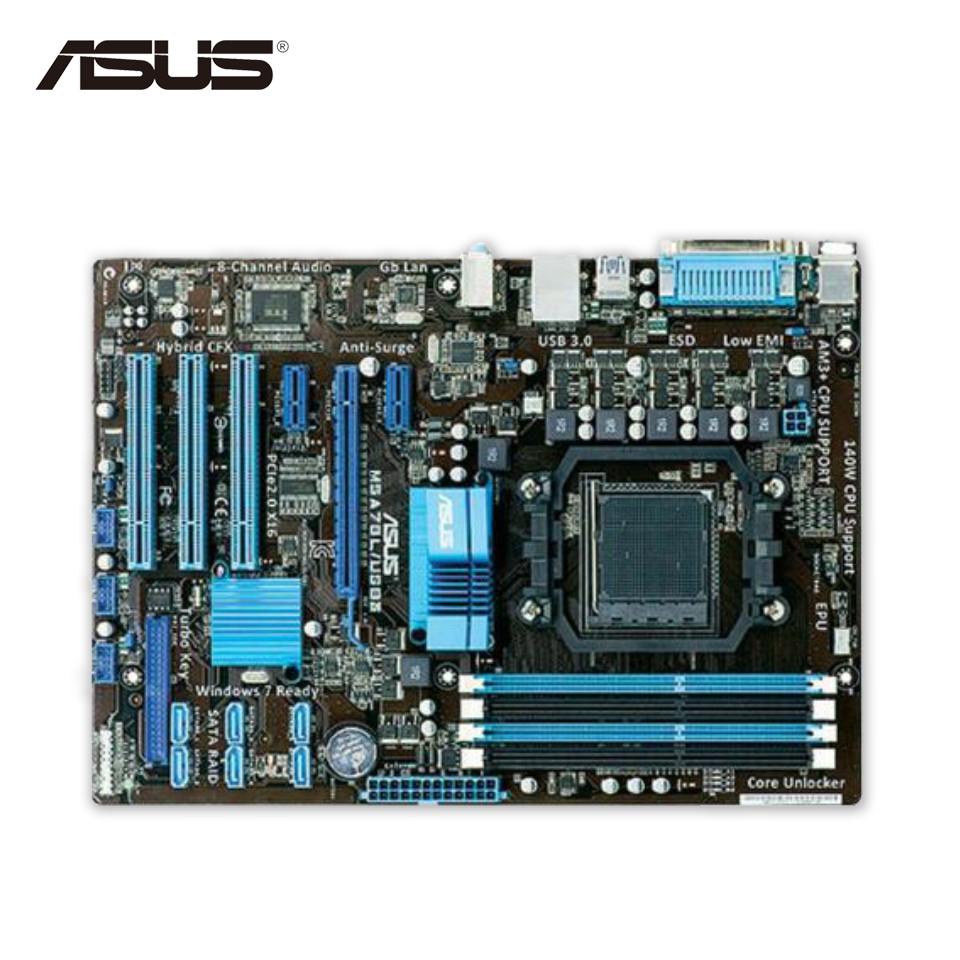 Asus M5A78L/USB3 Desktop Motherboard 760G Socket AM3+ DDR3 16G SATA2 USB2.0 ATX free shipping original motherboard for asus m5a78l le ddr3 socket am3 am3 boards 32gb 760g desktop motherborad