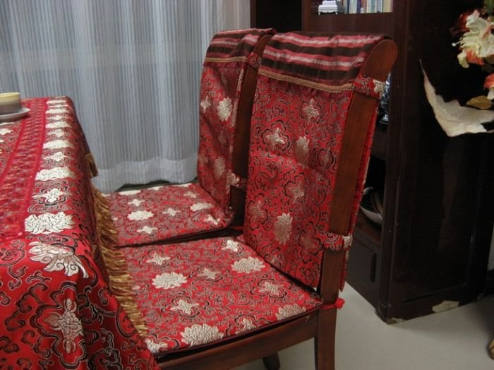 plastic seat covers dining room chairs | 2011 NEW ! European style gold chair covers / dining room ...