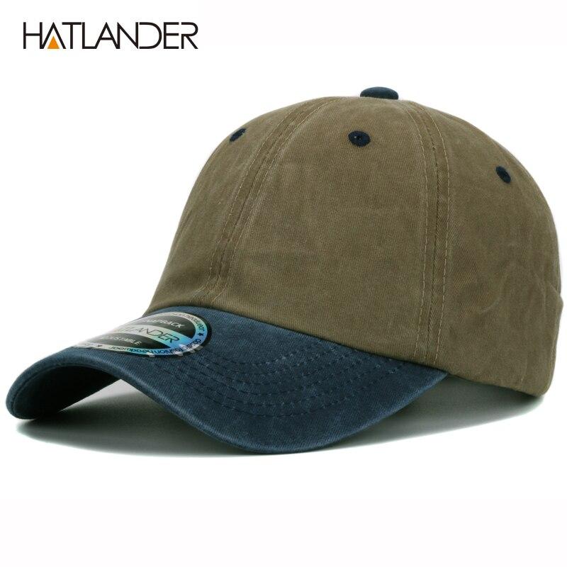 Prix pour HATLANDER lourd lavé solide two tone plaine casquette de baseball snapback unisexe gorras bicolore blanc chapeau coton cap pour hommes femmes