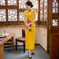 Fashion Ladies Satin Long Cheongsam Classic Chinese Style Women's Qipao Dress Spring Summer Vestido Size M L XL XXL XXXL