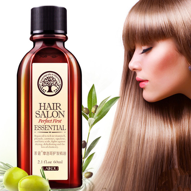 60ml Morocco Argan Oil Haircare Essential Oil Nourish Scalp Repair Dry Damage Hair Treatment Glycerol Nut Oil Hairdressing 4
