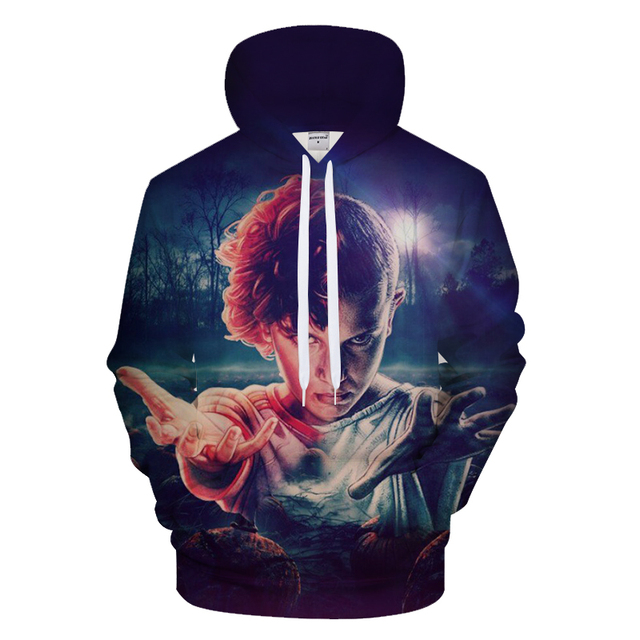 2018 New Men's Hoodies Stranger Things Printed Pullover Thin Hoodies & Sweatshirts For Spring Antumn Men Coat Casual Clothes 2