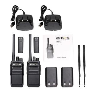 Image 5 - זוג Retevis RT617/RT17 מכשירי קשר PMR רדיו PMR446/FRS VOX USB טעינה שימושי 2 דרך רדיו תחנת Comunicador משדר