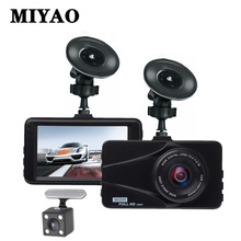 лучшая цена MIYAO Car Dvr Camera Dash Cam Mini 3'' IPS Dual Lens 1080P HD Night Vision Video Recorder Car G-sensor Parking Monitor DashCam