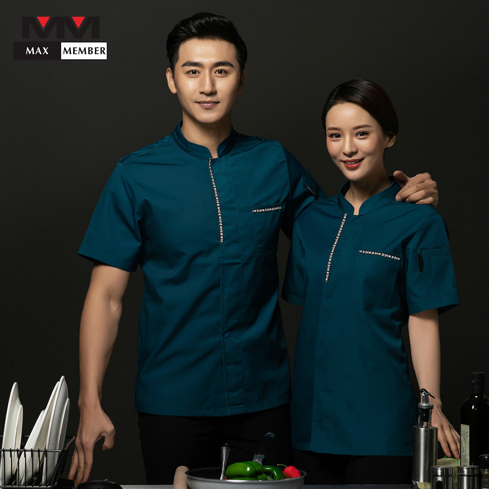 Men Women Uniform Chef Jacket Cook Shushi Cake Dumpling Delicious Food Diner Hotel Kitchen Cafe Bakery Summer Work Clothes