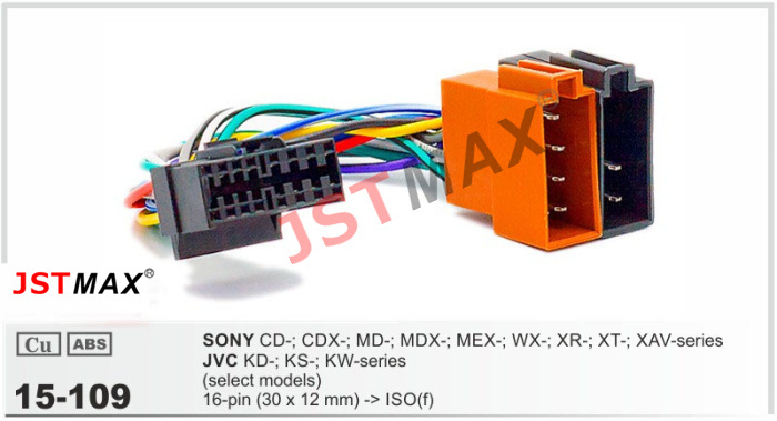 JSTMAX car DVD Radio stereo ISO cable Adapter for Sony