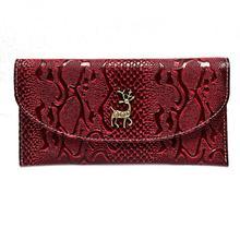 Christmas Deer Wallets Woman Wallet Women's Coin Purse Business Credit Card Holder Ladies Leather Handbags Travel Carteira