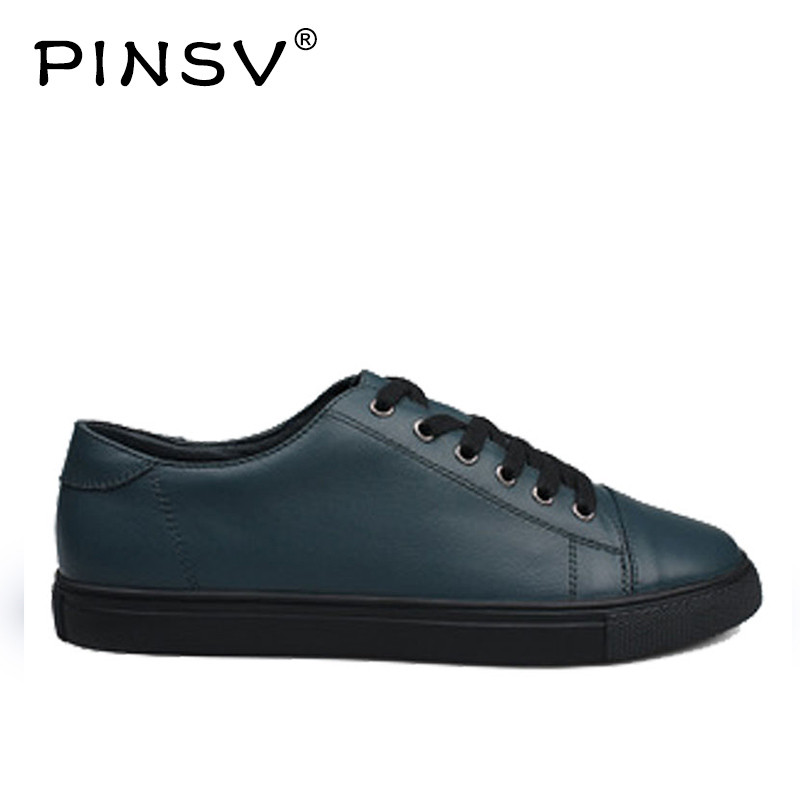 PINSV Genuine Leather Shoes Men Sneakerscasual Shoes Men Flats High Quality Italian Mens Shoes Zapatos Hombre Large Sizes 38-47 high quality 2016 new design unique genuine leather men shoes zapatos hombre snake luxury brand formal casual mens loafers shoes