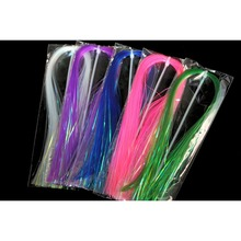 5 Assorted Colours Wide Pearl Coating Flashabou Hedron Fly Tying Material 1mm Wide