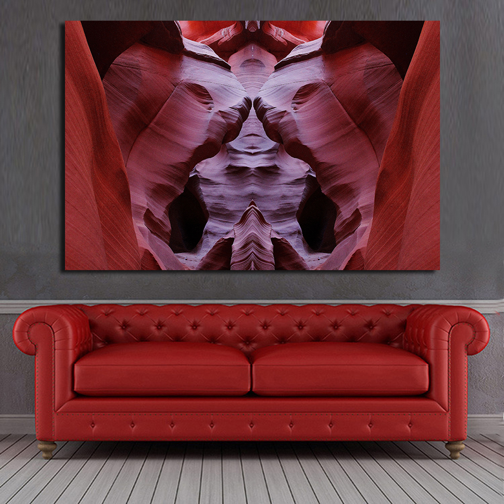 Wall painting effects - Wang Art Antelope Canyon Special Effects Of Photo Wall Pictures For Living Room Canvas Art Home Decor Modern No Frame