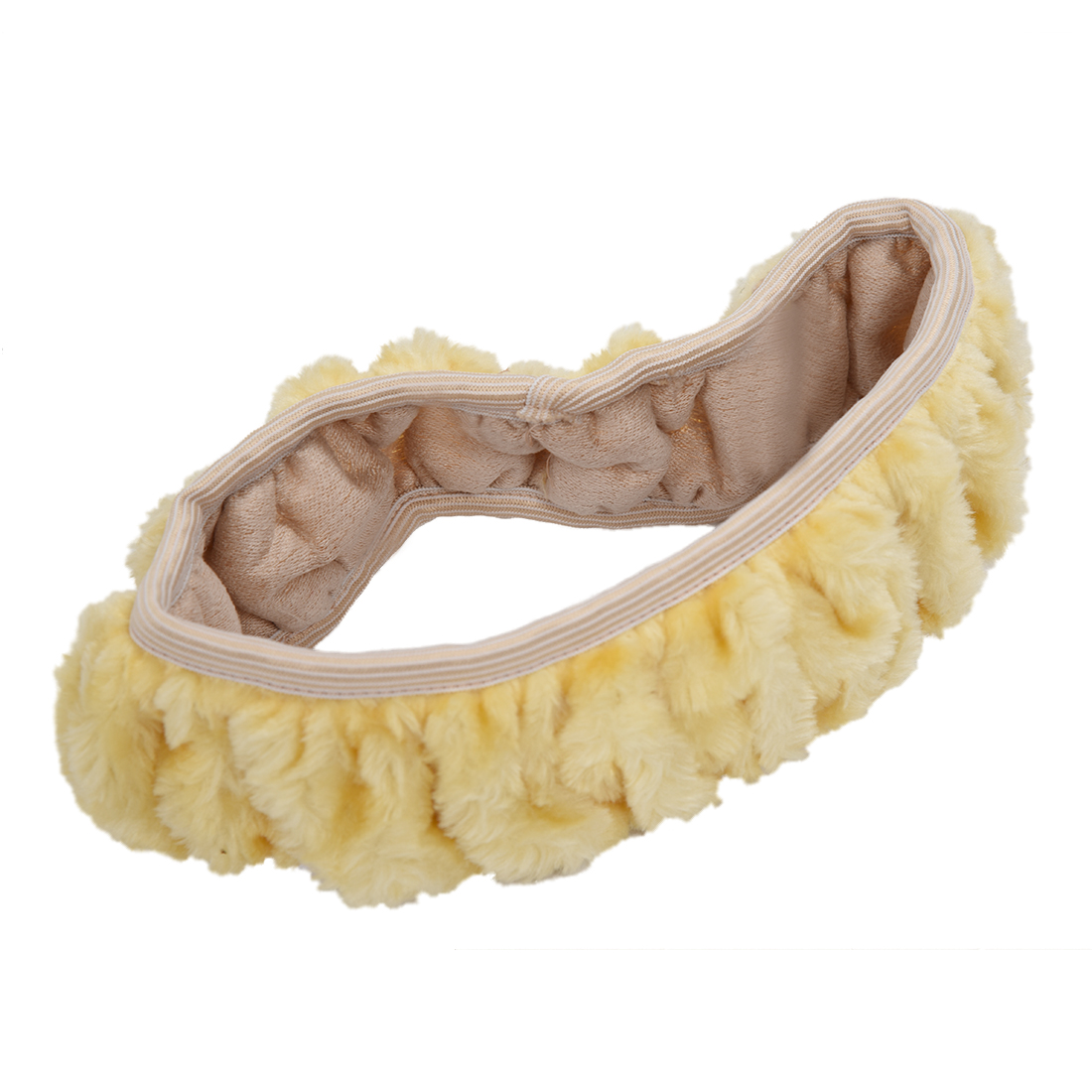Steering wheel cover Fluffy Furry Fur - Beige