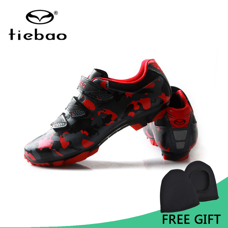 Tiebao Men Women Bicycle Shoes For MTB Bike Racing Athletic Shoes  Nylon TPU Soles Self Lock Cycling Shoes Ciclismo Zapatos stylish bicycle lock and round pendant double sweater chains for women