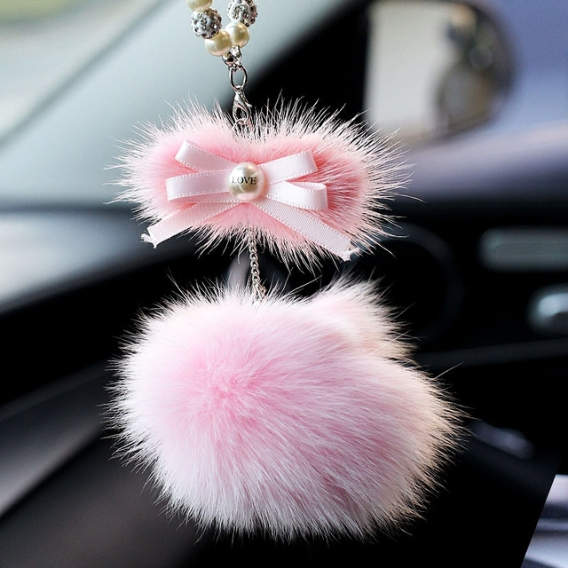 car accessories for girls Fashionable Butterfly-knot  Car Rearview Mirror Hanging Car Hanging Car Interior Jewelry