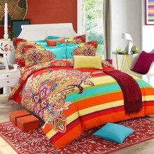 Brushed Cotton bohemian bedding sets 4pcs queen king duvet cover set bedlinen bedclothes beautiful bedding #2