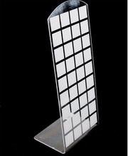 10 шт/лот h:18x9 см l образные серьги акриловая подставка демонстрационная