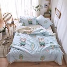 Kids Adult Comforter Bedding Sets Super Soft Summer Cotton Quilt Pillowcase Single Double Bed Linens