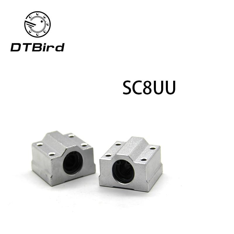 Free shipping High quality 4pcs/lot SC8UU SCS8UU 8mm Slide Unit Block bearing Steel Linear Motion Ball Bearing Slide Bushing