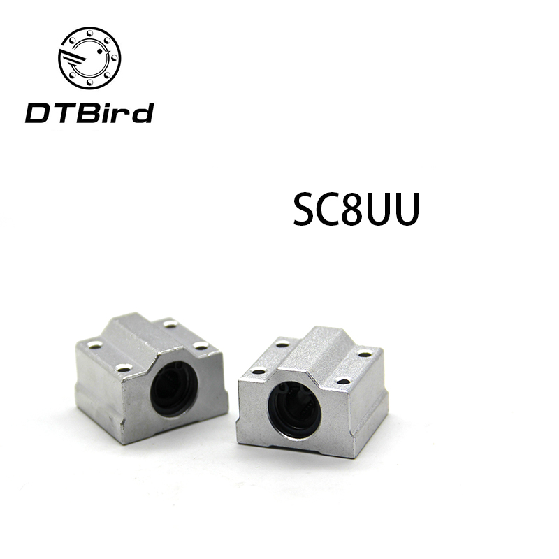 Free shipping High quality <font><b>4pcs</b></font>/lot <font><b>SC8UU</b></font> SCS8UU 8mm Slide Unit Block bearing Steel Linear Motion Ball Bearing Slide Bushing image