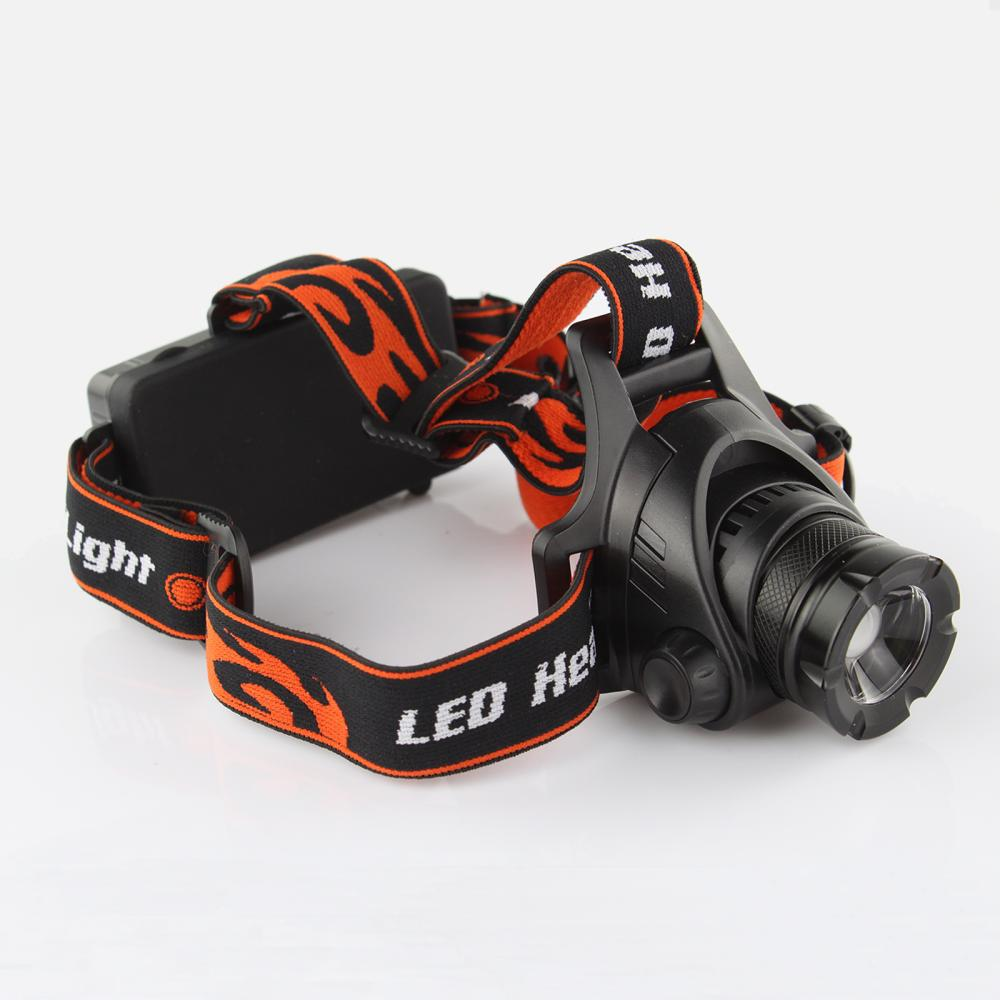 Powerful Headlamp 2000Lm Waterproof XML L2 U2 LED Headlight Head Lamp Light Zoomable Adjust Focus For Bicycle Camping Outdoors