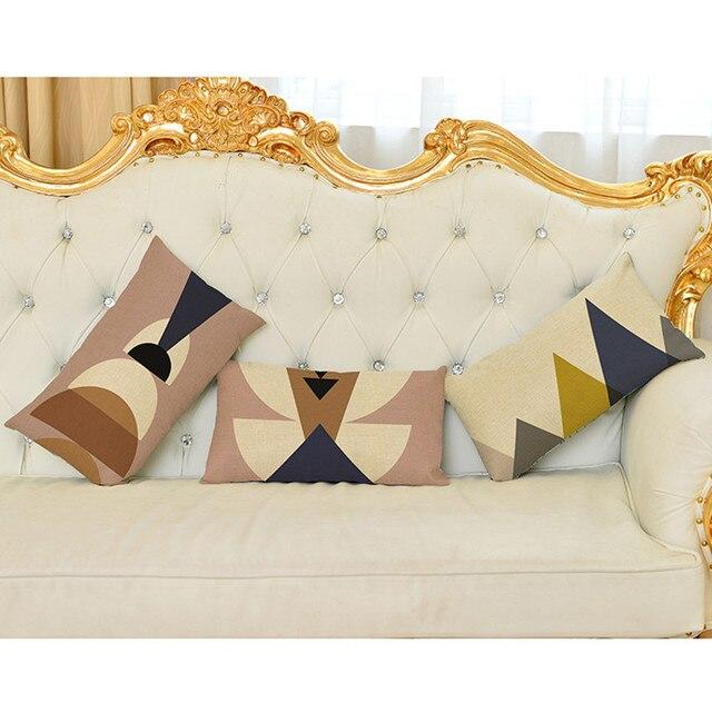 Irregular Geometrics Shape Elegant Home Decorative Lumbar Waist Unique 30 X 30 Decorative Pillows
