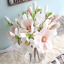 1 Pc Artificial Simulation Silk Mini Magnolia Short Branch Flower Wedding