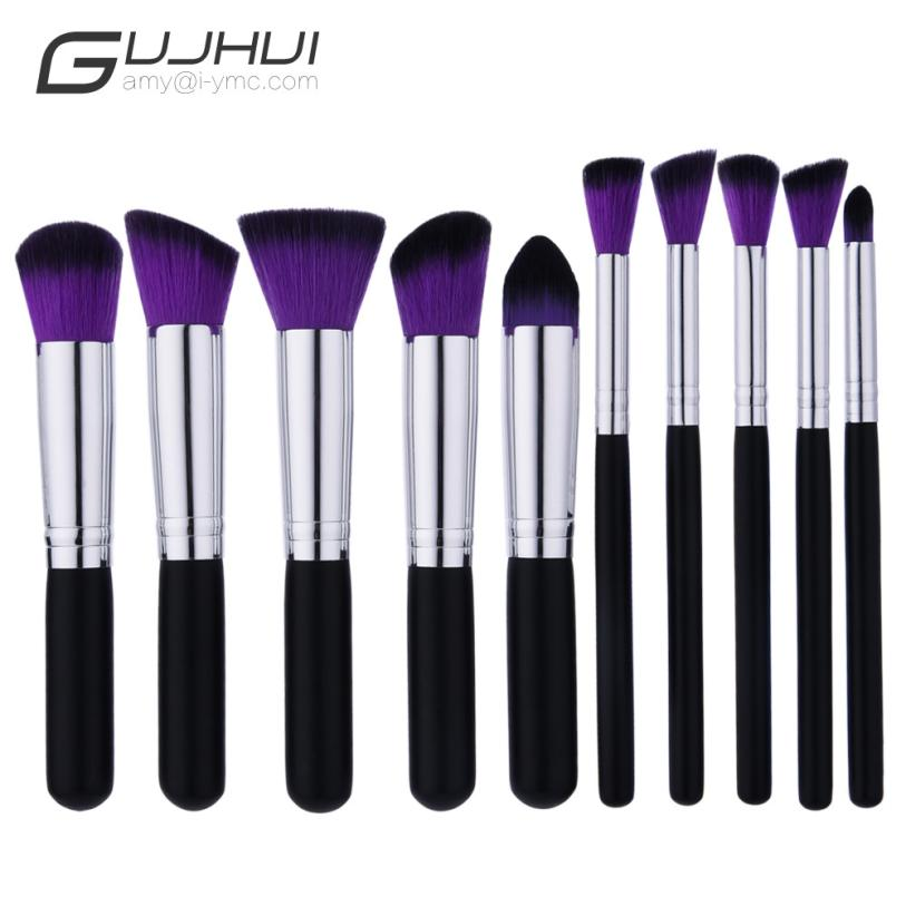 GUJHUI 10pcs Professional Makeup Brushes Sets Eyebrow Maquillage Concealer Foundation Cosmetics Beauty Tools JU13.drop shipping сумка для мамы ju ju be be light onyx black beauty