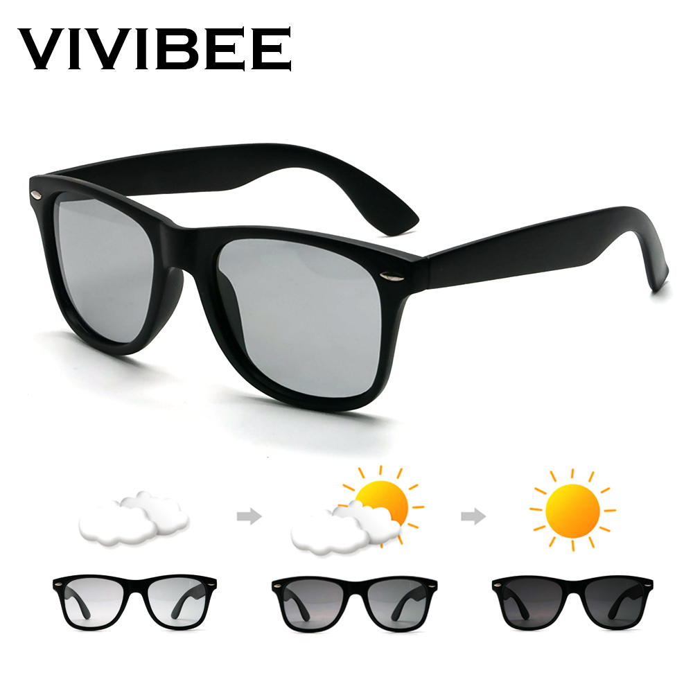 VIVIBEE Classic Deisign Square Polarized Men Driving Sunglasses Photochromic Polar Sun Glasses 2019 Trending High Quality Shades