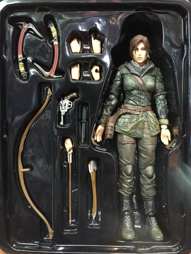 Play Arts Kai PA Tomb Raider Lara Croft Figure Play Arts Figure PA 25cm PVC Action Figure Doll Toys Kids Gift Brinquedos