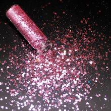 1 Bottle Pink Holographic Sequin Glitter Shimmer Diamond Eye Shiny Skin Highlighter Face Glitter Festival Makeup Shinning(China)