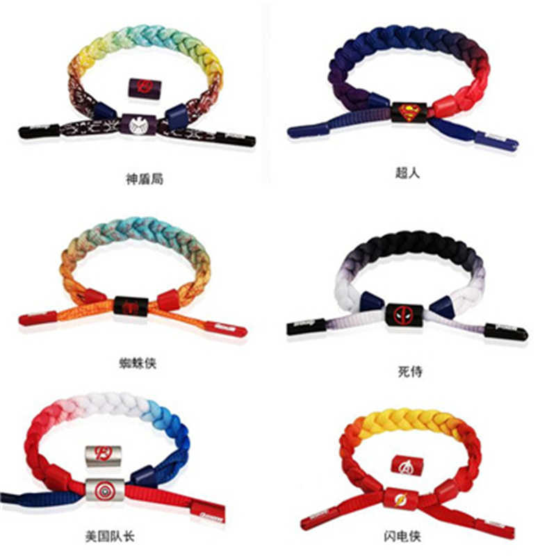 Cosplay Marvel DC super-héros capitaine Spider-Man Deadpool Iron Man Superman Anime film entourant accessoires Bracelet