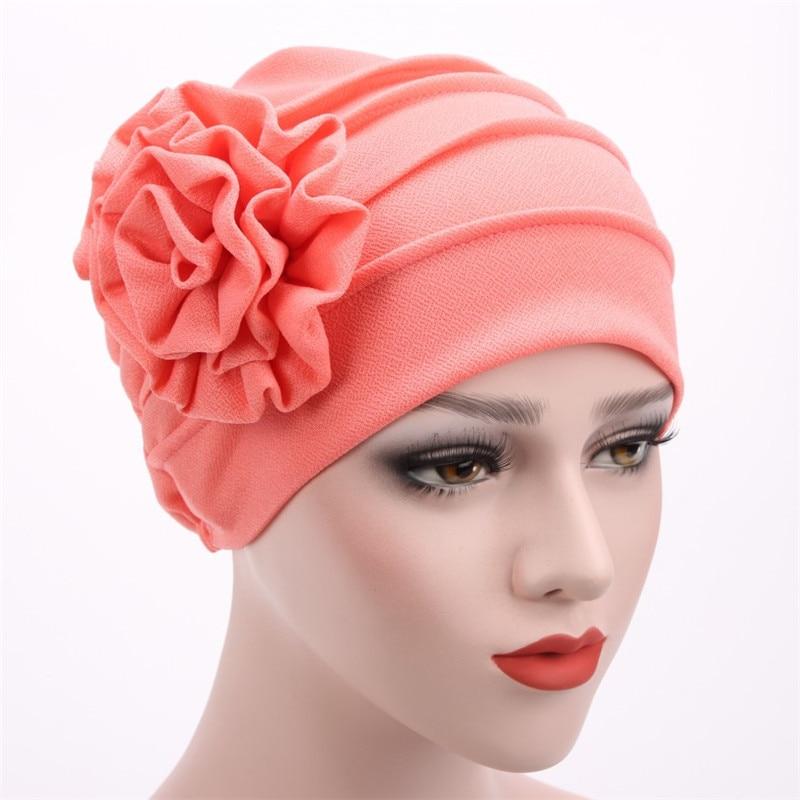 Women's Hats Spring Summer Floral Beanie Hat Muslim Stretch Turban Hat Cap Hair Loss Headwear Hijib Cap Women Women's Clothings Women's Scarf/Shawls/Caps