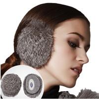Kenmont Unisex Women Lady Girl Ski Outdoor Leopard 100 Rabbit Fur Ear Warmer Earmuffs Ear Bags