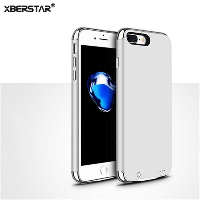 Новый Ультра Тонкий Внешний Корпус Батареи Резервного Копирования 3 в 1 Power Bank Обложка Для iPhone 7 Plus