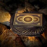 Геральдика золотой карты игральные пластиковые широкий карты для покера 88*63мм итальянский покер Plastic playing cards