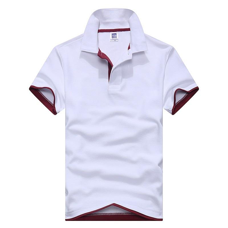 New 2019 High Quality Cotton Turn Down Collar Autumn Men   Polo   Shirt Cotton Short Sleeve Shirt Fashion Casual   Polo   Shirt Brand