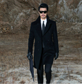 Free shipping ! S-4XL 2014 new autumn winter men brand tidal Slim woolen coat plus size Leisure long cashmere trench coat