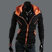New Fashion Men Hoodies Europäischen Stil Freizeit Fleece Herbst Doppel-reißverschluss Schlanke Lange Ärmel Beiläufigen Sweatshirt Trainingsanzug 1601