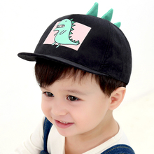 2019 New Cartoon Dinosaur Baseball Cap Men and Women Baby Boy Girls Hip Hop Hats Black Pink Yellow Blue Khaki Children Hat