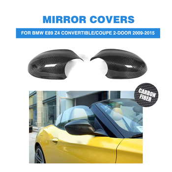 Carbon Fiber Rearview Mirrors Caps Covers for BMW E89 Z4 Convertible / Coupe 2-Door 2009-2015 2PCS/Set image
