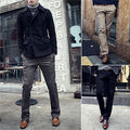 Mens Slim Fit Suit Trousers Casual Mid-Rise dainty Straight Long Pants