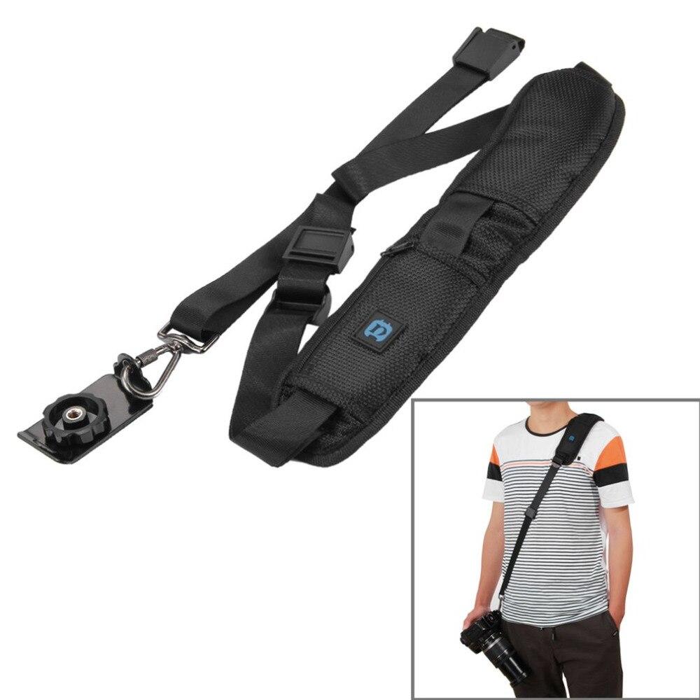 PULUZ Professional Camera Strap Adjustable Shoulder Black Belt Strap Durable Soft Cushion DSLR With Metal Buckle For Canon Nikon