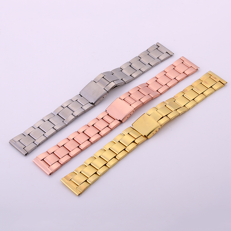 20MM Gold Silver Rose gold Stainless Steel Watch Band Strap Metal Bracelets For Men Women Wrist Watches Watchband 20mm 22mm 24mm men solid stainless steel watch band metal bracelets strap wrist watches replacement for men s women s wristwatch